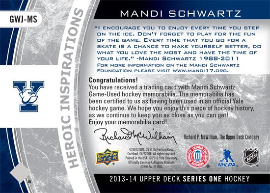 Heroic-Inspirations-Mandi-Schwartz-2013-14-NHL-UD1-Back
